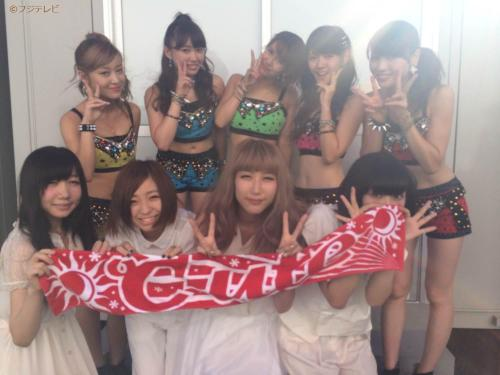 °C-ute with Akai Kouen at Mezamashi Live